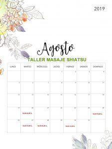 Taller Masaje Shiatsu Agosto fechas